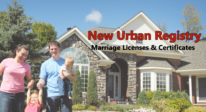 New Urban Marriage Licenses & Certificates